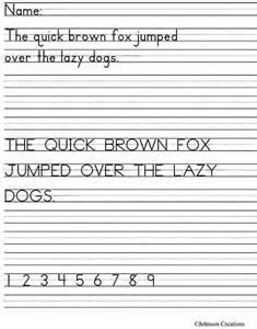 johnson creations handwriting assessment freebie