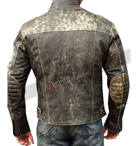 classic leather motorcycle jackets mens antique black distressed retro biker jacket