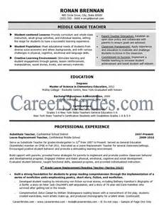 Middle School Resume Exles by Middle School Resume Sle Exle