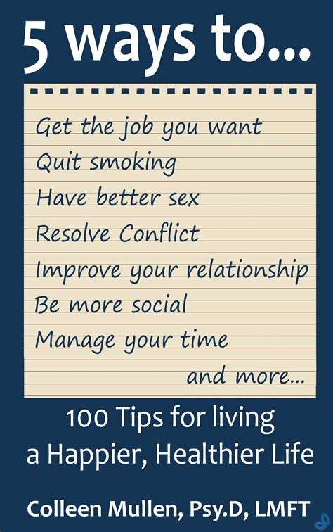 tips for living books 100 tips fo living a happier healthier free