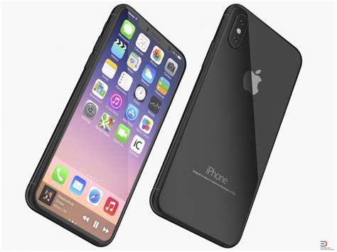 iphone 3d photo iphone 8 concept black 3d model cgstudio