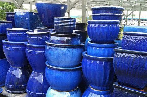 Cobalt Blue Planters by Blue Planters Via Funnelcloud Outdoor Ideas Blue