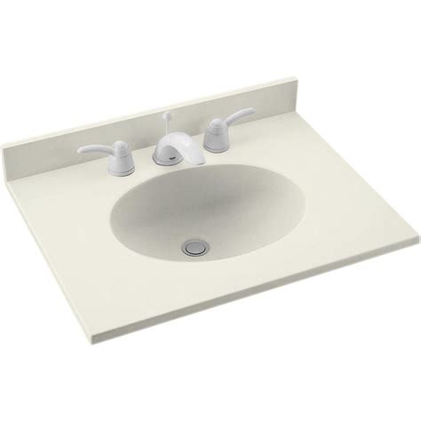 Solid Surface Vanity Top With Sink by Swan Ellipse 25 In W X 19 In D Solid Surface Vanity Top