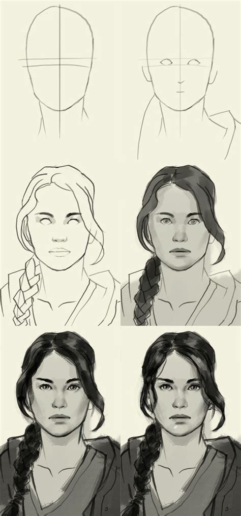How To Draw Katniss Everdeen Realistic