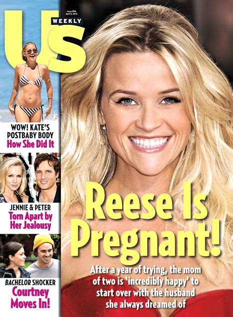 Us Weekly Goes Bald On This Weeks Cover by Report Reese Witherspoon With Third Child
