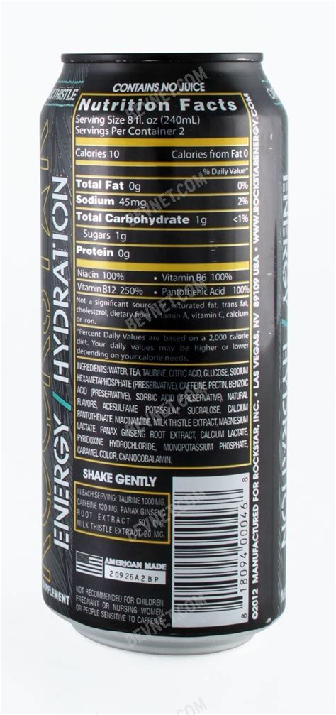 energy drink information rockstar energy drink nutrition facts primus green energy