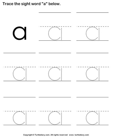 printable word tracing worksheets trace the sight words turtlediary com