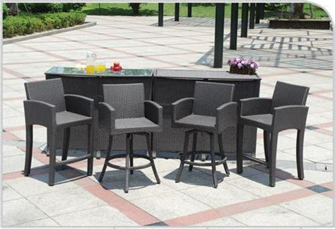 Bar Set Patio Furniture Outdoor Bar Furniture Outdoor Decorating Ideas