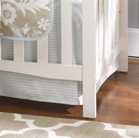 Houndstooth Crib Bedding Seafoam Blue Houndstooth Crib Skirt 17 Quot Drop Liz And Roo