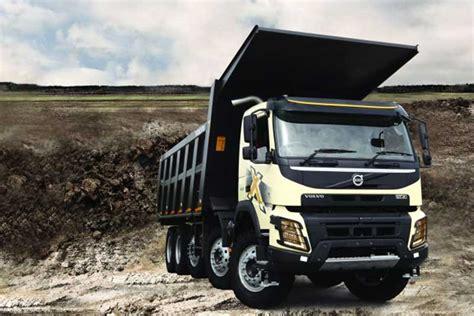 volvo launches  axle dump trucks  coal mining truckscom