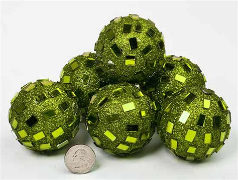 Green Decorative Balls apple green mirrored disco balls centerpiece mirrors