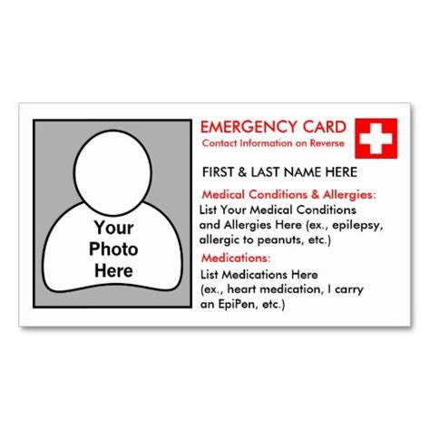 emergency id card template 26 best images about dyi id cards you can put