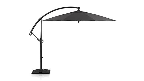 10 sunbrella 174 charcoal cantilever patio umbrella