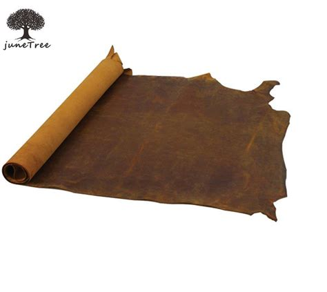 Is Cowhide Leather Real Leather - junetree cowhide cow leather brown thick genuine