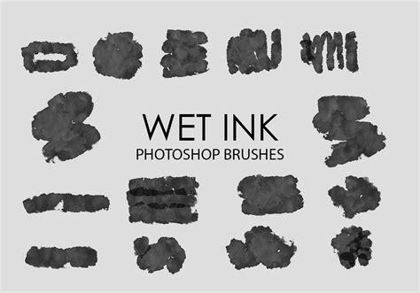wet ink photoshop brushes   photoshop brushes