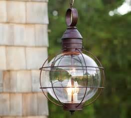 Outdoor Patio Hanging Lights Fisherman S Pendant Traditional Outdoor Hanging Lights By Pottery Barn