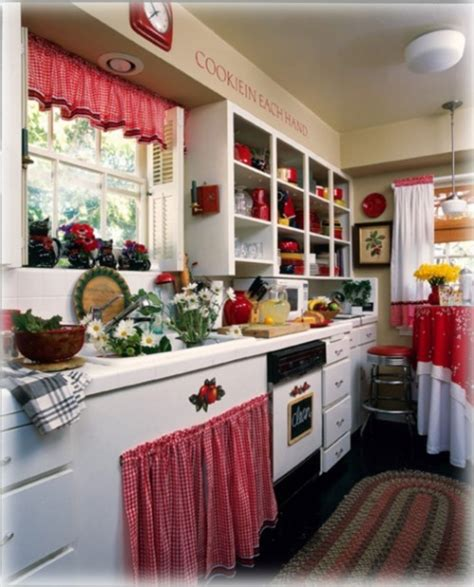 Ideas For Kitchen Themes | interior and decorating idea for red kitchen themes