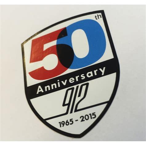Porsche Sticker Aufkleber by Porsche 912 50 Years Shield Sticker