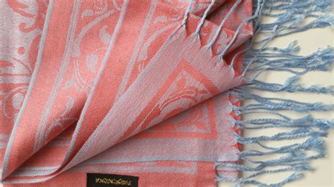 Pashmina Umama Kasmir Turkey Motif turkish ottoman design pashmina pink blue scarf shawl