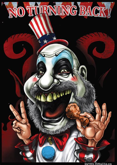 house of a thousand corpses clown caricature of captain spaulding sid haig from house of 1000 corpses done in