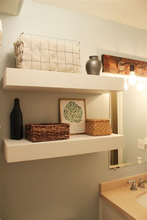 Building Bathroom Shelves Diy Bathroom Floating Shelves
