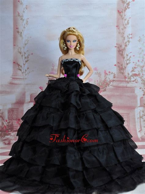 black quinceanera doll amazing black dress with sequins made to fit the