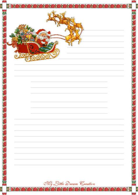 touching hearts letters santa claus templates