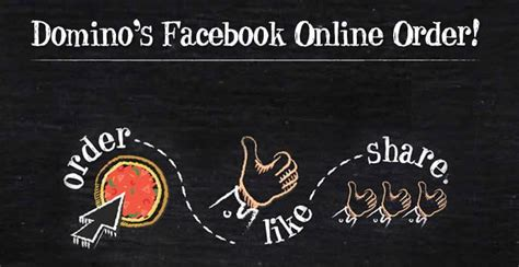 domino pizza facebook domino s tests out pizza ordering through facebook