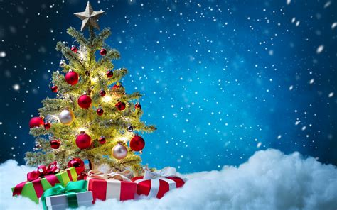 imagenes 4k navidad fondo de pantalla arbol de navidad nieve hd