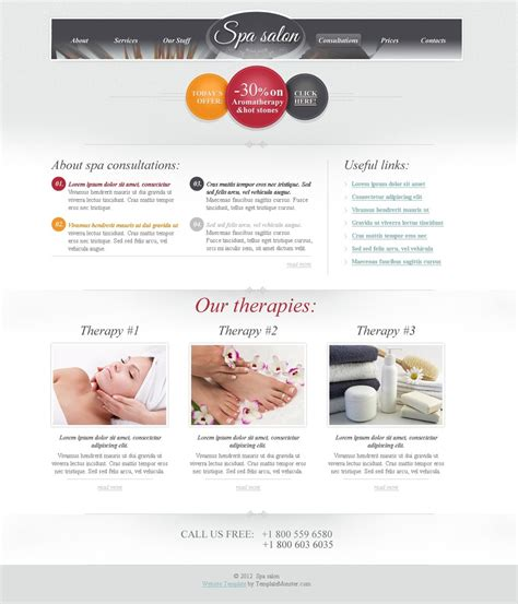 Free Html Theme For Spa Salon Website Free Spa Website Templates
