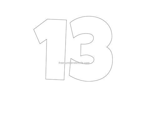 stencil template free 13 number stencil freenumberstencils