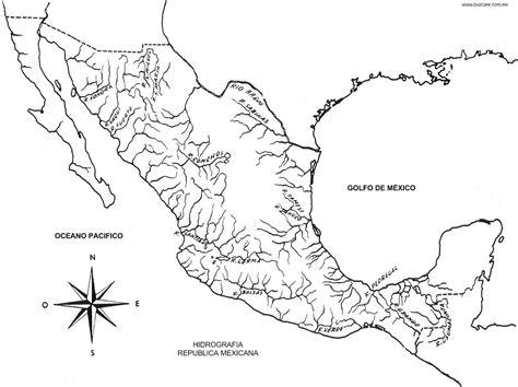 mapa de mexico con rios republica mexicana hidrografia