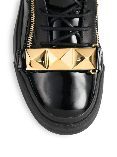 High Tops Bar by Giuseppe Zanotti Pyramid Bar High Top Sneakers In Black
