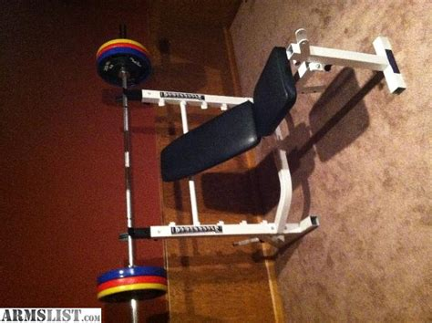 powerhouse olympic weight bench armslist for sale olympic weight bench excellent cond
