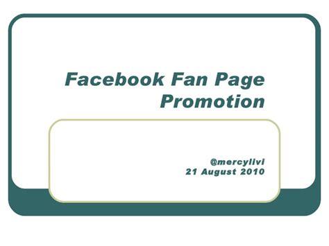 Fan Page Promotion