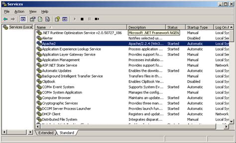 installing xp apache as service step by step howt to install test and configure apache