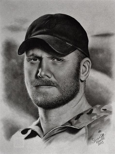 chris kyle images chris kyle drawing by howell