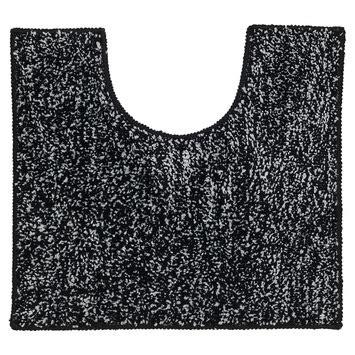 wc mat gamma gamma sealskin wc mat speckles zwart 50x45 cm kopen