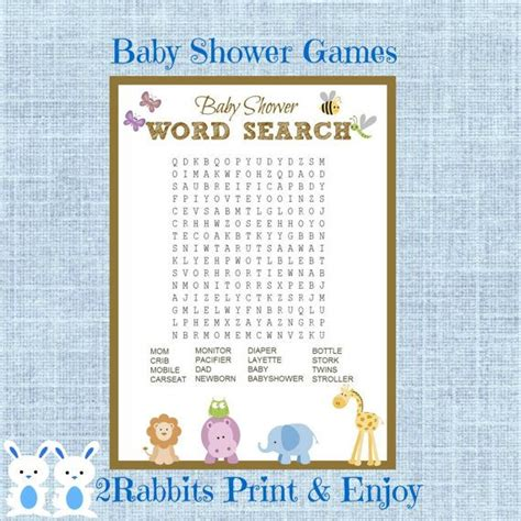 Baby Shower Crossword by 1000 Images About Baby Shower Printable On