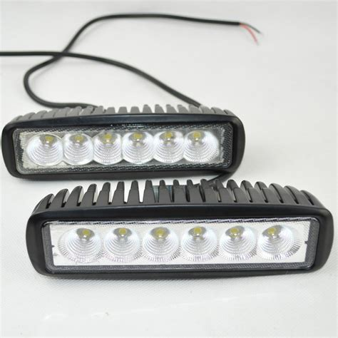 12 volt led lights 12 volt 18w led work light bar l 12v led tractor work