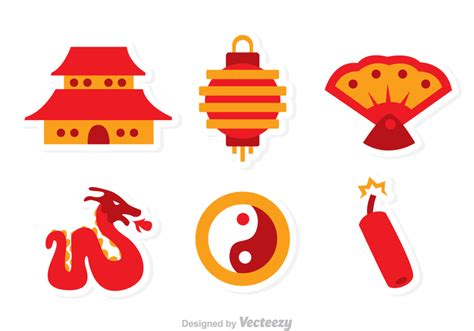 new year gate vector vector flat icons free vector