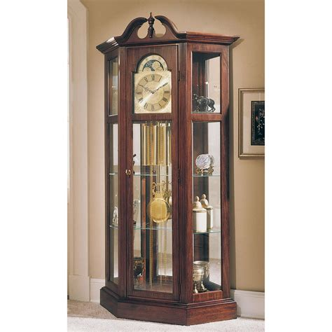 grandfather clock curio cabinet howard miller richardson i grandfather curio clock
