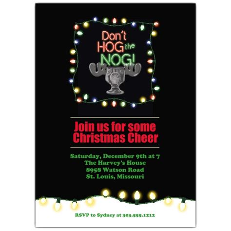 hog the nog christmas invitations paperstyle