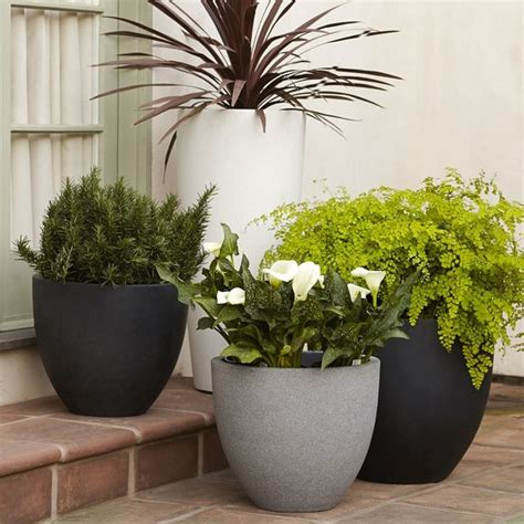round planter contemporary outdoor pots and planters