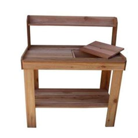 potting bench kit shop outdoor living today western red cedar potting bench
