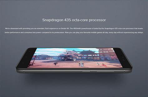 Xiaomi Redmi 4x Smartphone Black Memory 32 Gb Rom 3 Gb xiaomi redmi 4x 3gb 32gb smartphone black