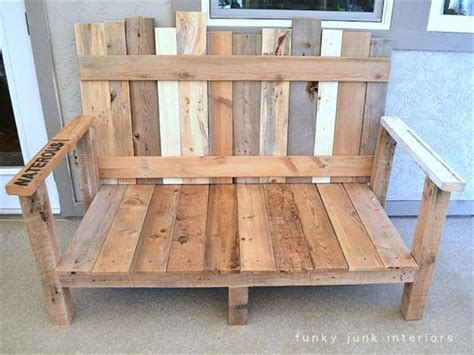 Wood Sofa Plans by Diy Outdoor Pallet Wood Sofa Pallet Furniture Plans