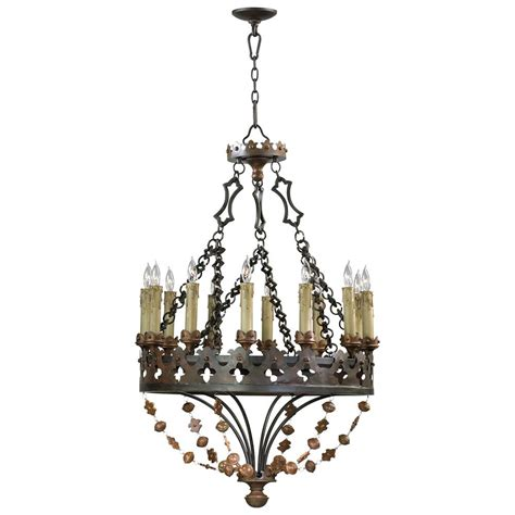 Iron Chandelier Madrid Revival Wrought Iron 12 Light Chandelier Kathy Kuo Home
