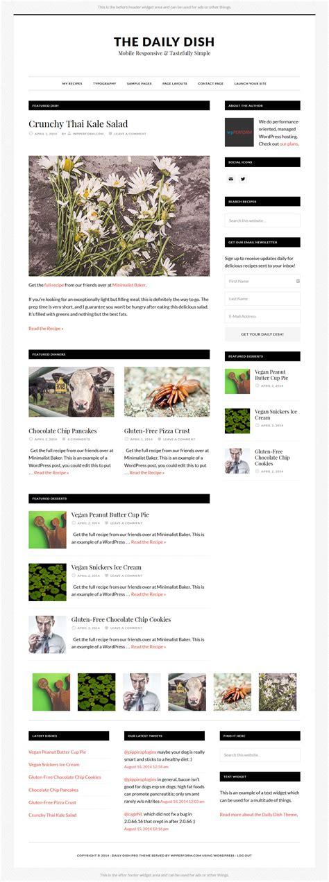 Studiopress Daily Dish Pro V1 1 1 daily dish pro by studiopress wpperform