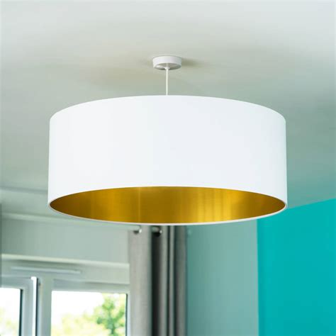 Oversized Light Shades Ceiling Oversize Brushed Gold Lined Ceiling Pendant Shade By Quirk Notonthehighstreet